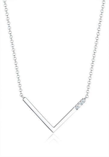 Diamore Collierkettchen »V-Kette Geo Diamant (0.06 ct) 925 Silber«