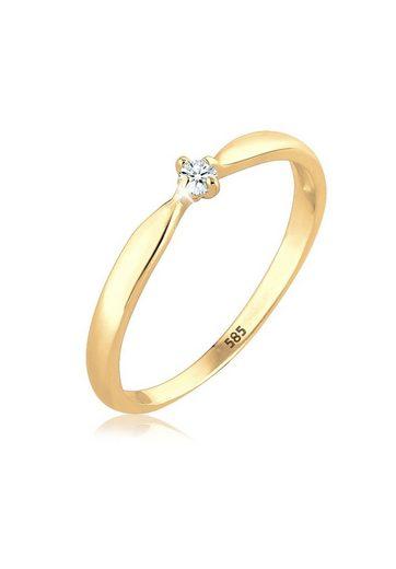 Diamore Diamantring »Verlobung Welle Diamant (0.03 ct) 585 Gelbgold«
