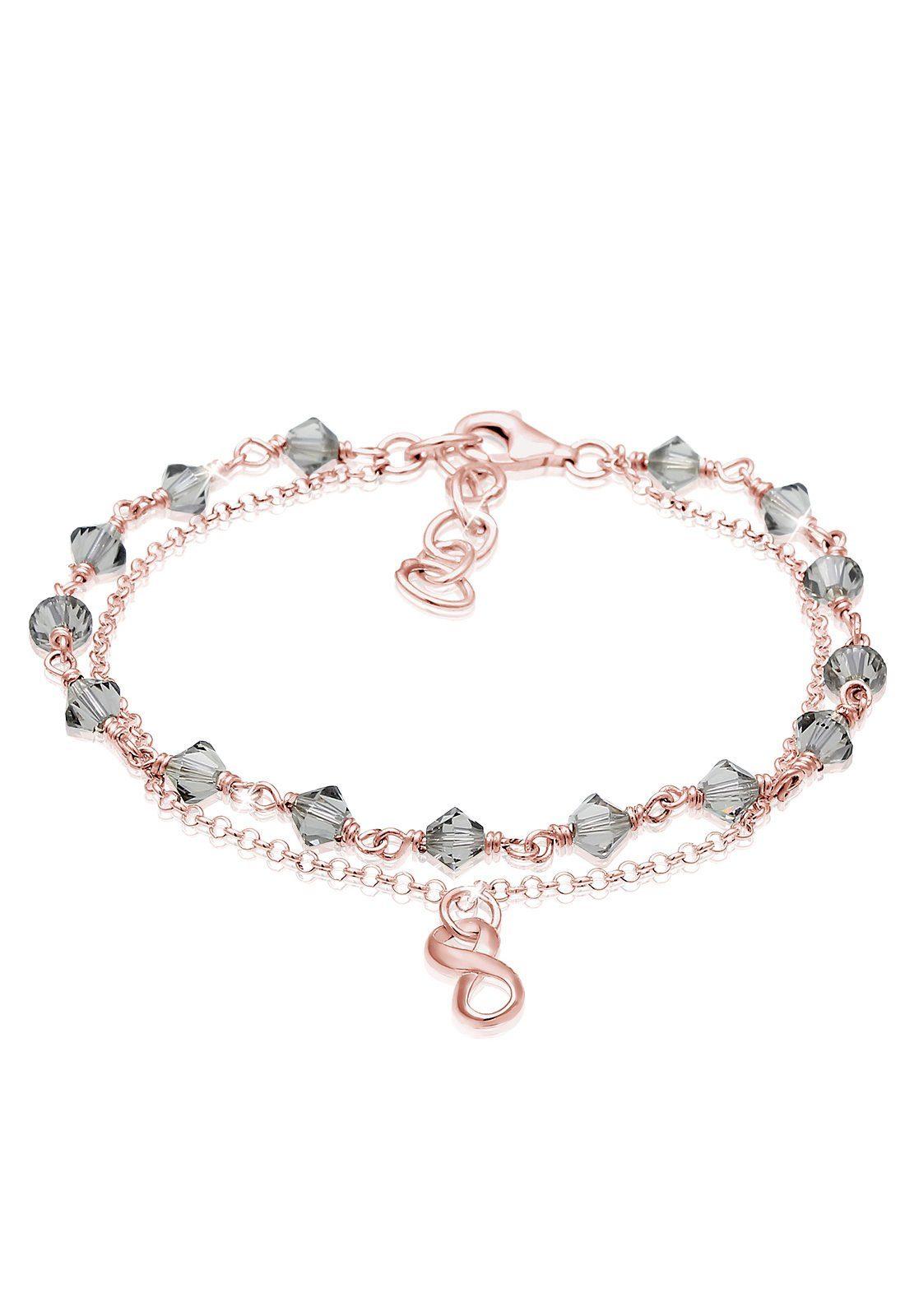 Elli Armband »Infinity Bead Swarovski® Kristalle 925 Silber«