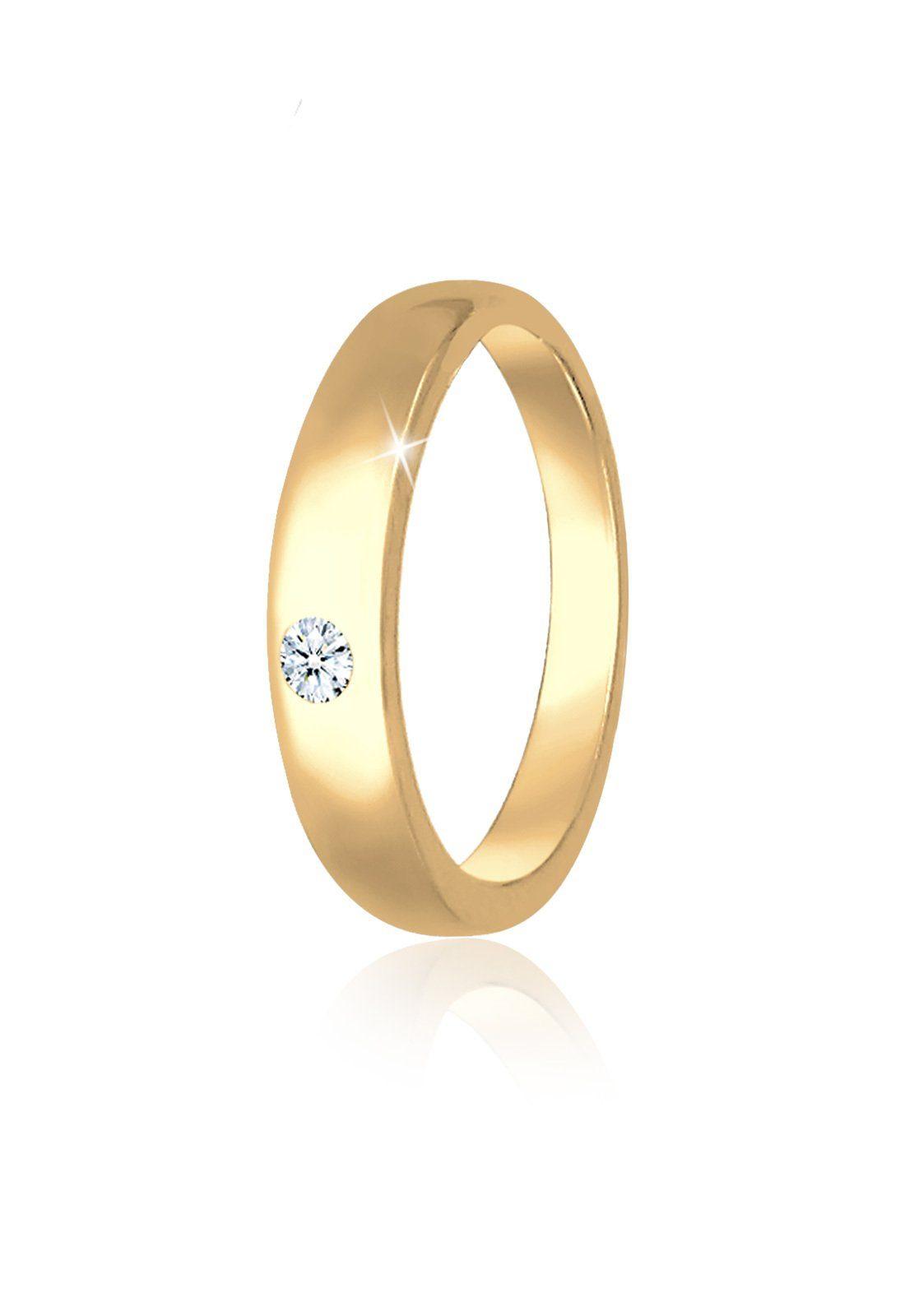 Elli Kettenanhänger »Kinder Taufring Diamant (0.01 ct) 585 Gelbgold«