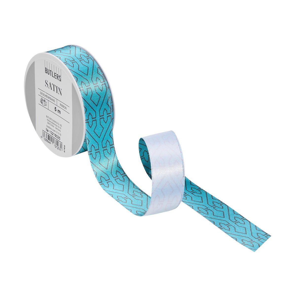 BUTLERS SATIN »Geschenkband geometrisches Muster«