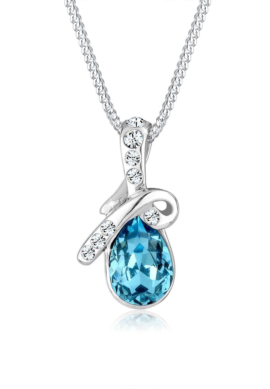 Elli Collierkettchen »Glamour Swarovski® Kristalle 925 Sterling Silber«