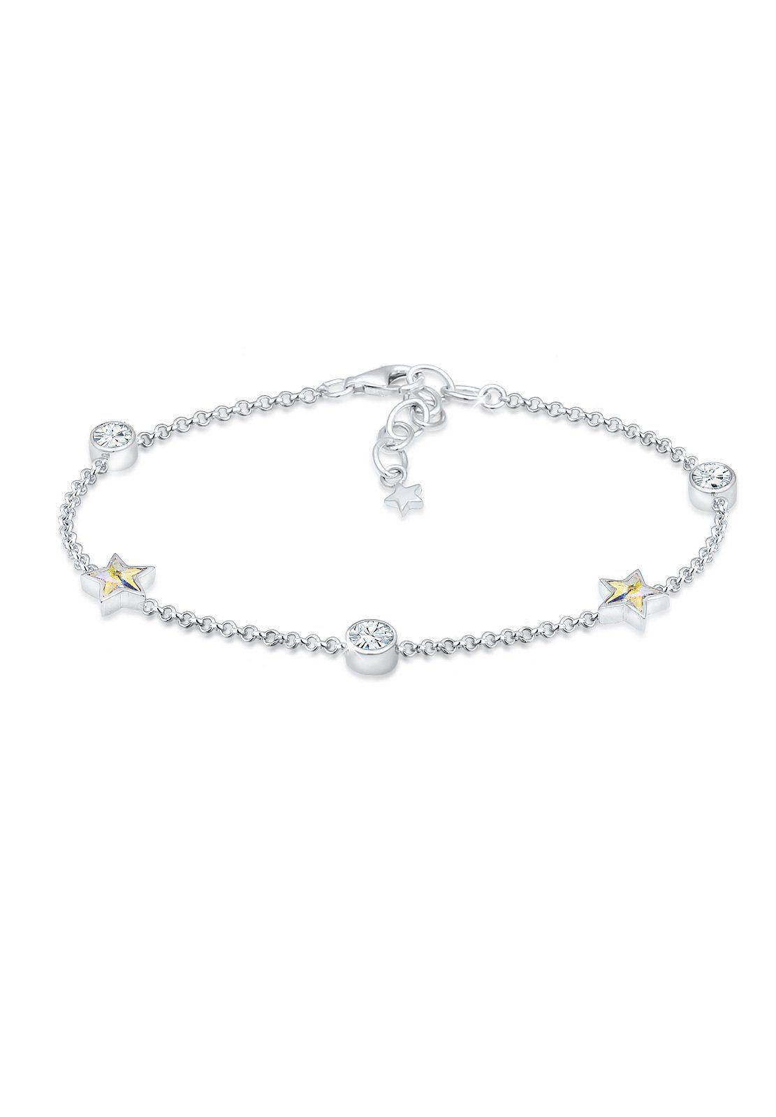 Elli Armband »Sterne Solitär Swarovski® Kristalle 925 Silber«
