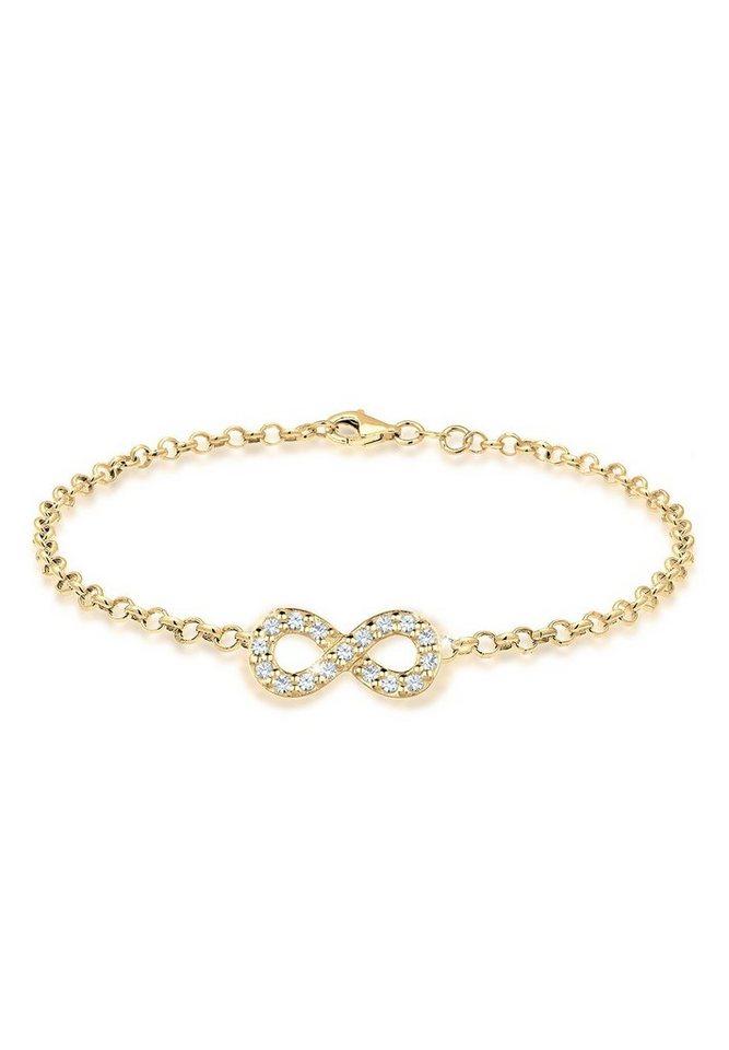 GOLDHIMMEL Armband »Infinity Swarovski® Kristalle Lovely 925 Silber« | Schmuck > Armbänder > Goldarmbänder | Goldfarben | GOLDHIMMEL