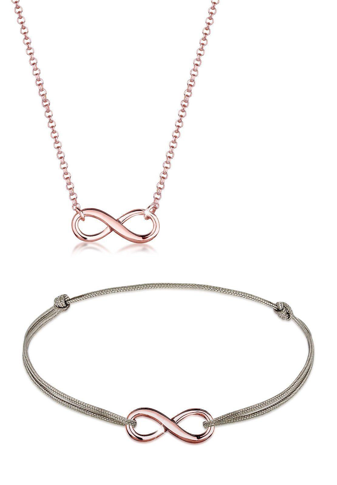 Elli Ketten und Armband Set »Set: Infinity Unendlich Verbunden 925 Sterling Silber« (Set, 2 tlg)