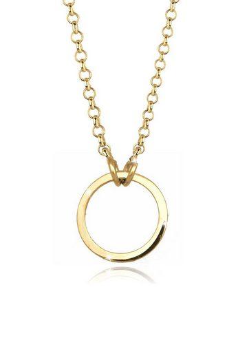 Elli Collierkettchen »Charmträger Ring 925 Sterling Silber«