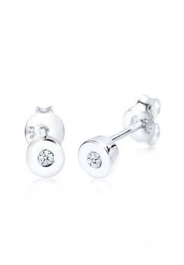 Diamore Paar Ohrstecker »Basic Klassiker Diamant 0.06 ct. 925 Silber«