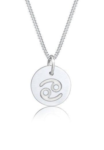 Elli Collierkettchen »Sternzeichen Krebs Astro Symbol Matt 925 Silber«