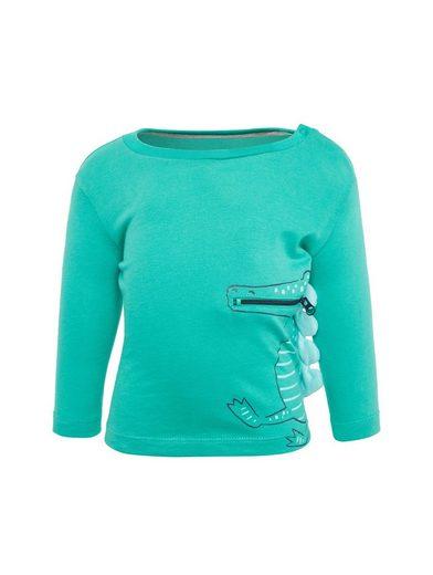 TOM TAILOR Langarmshirt »Shirt mit Krokodil-Print und Tasche«