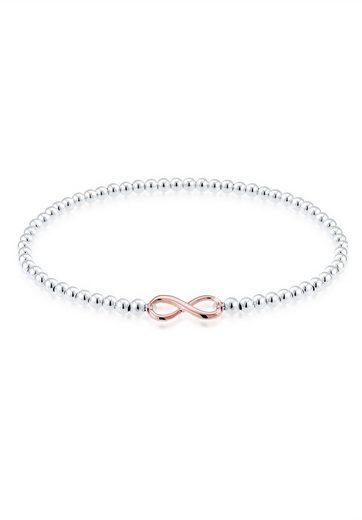 Elli Armband »Infinity Unendlichkeit 925 Silber rosé«