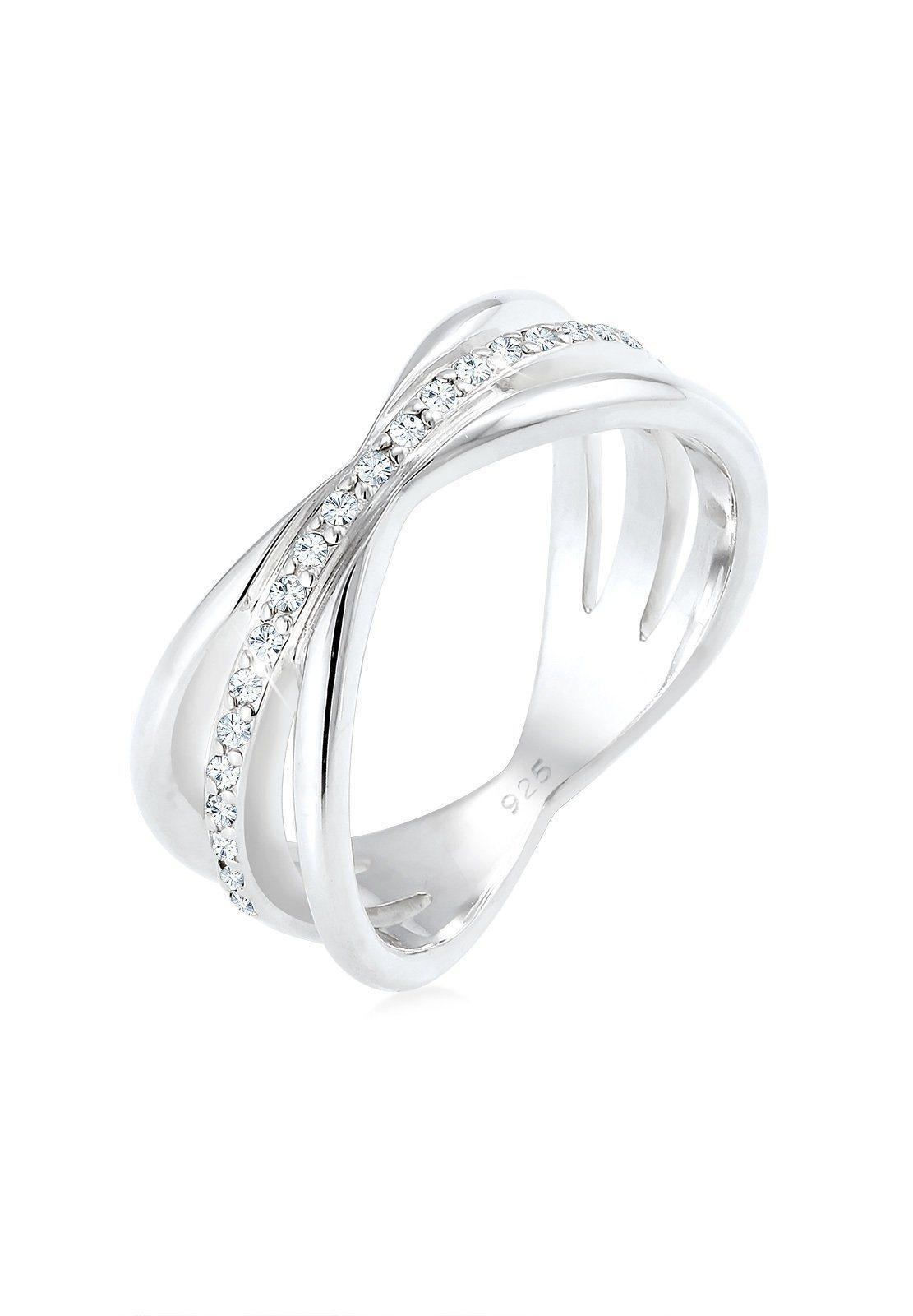 Elli Fingerring »Wickelring Blogger Swarovski® Kristalle 925 Silber« | Schmuck > Ringe > Fingerringe | Elli