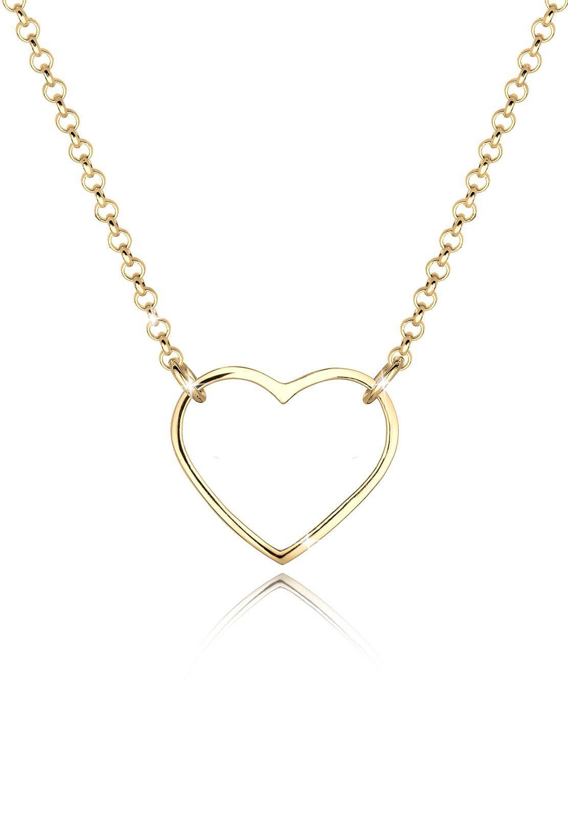 GOLDHIMMEL Collierkettchen »Herz Liebesbeweis 925 Sterling Silber Cherié«