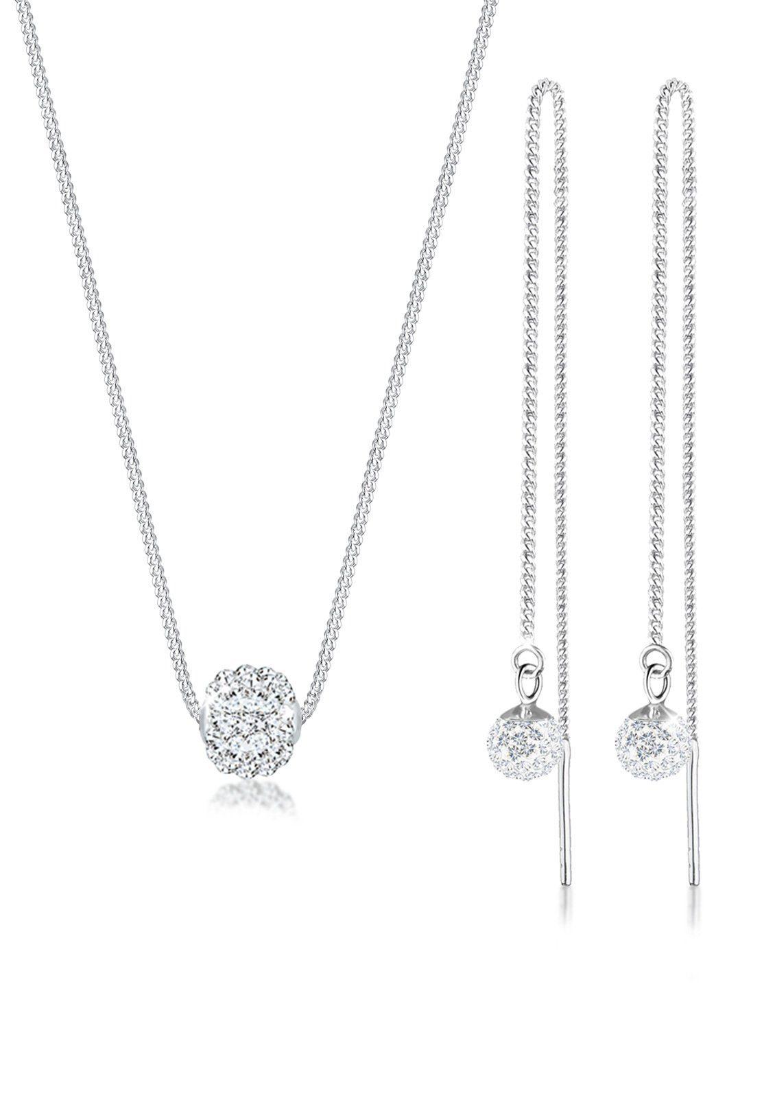 Elli Schmuckset »Set: Collier Hänger Swarovski® Kristalle 925 Silber« (Set, 2 tlg)
