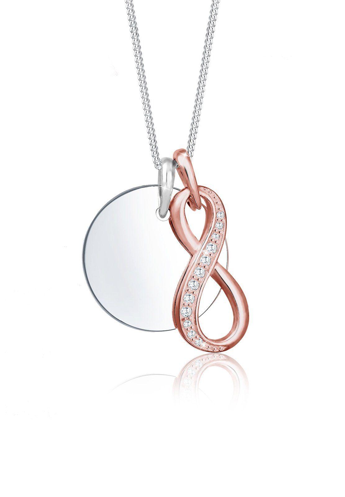 Elli Collierkettchen »Infinity Unendlich Bi-Color Zirkonia Silber«