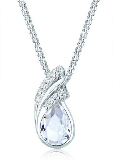Elli Collierkettchen »Tropfen Drop Swarovski® Kristalle 925 Silber«