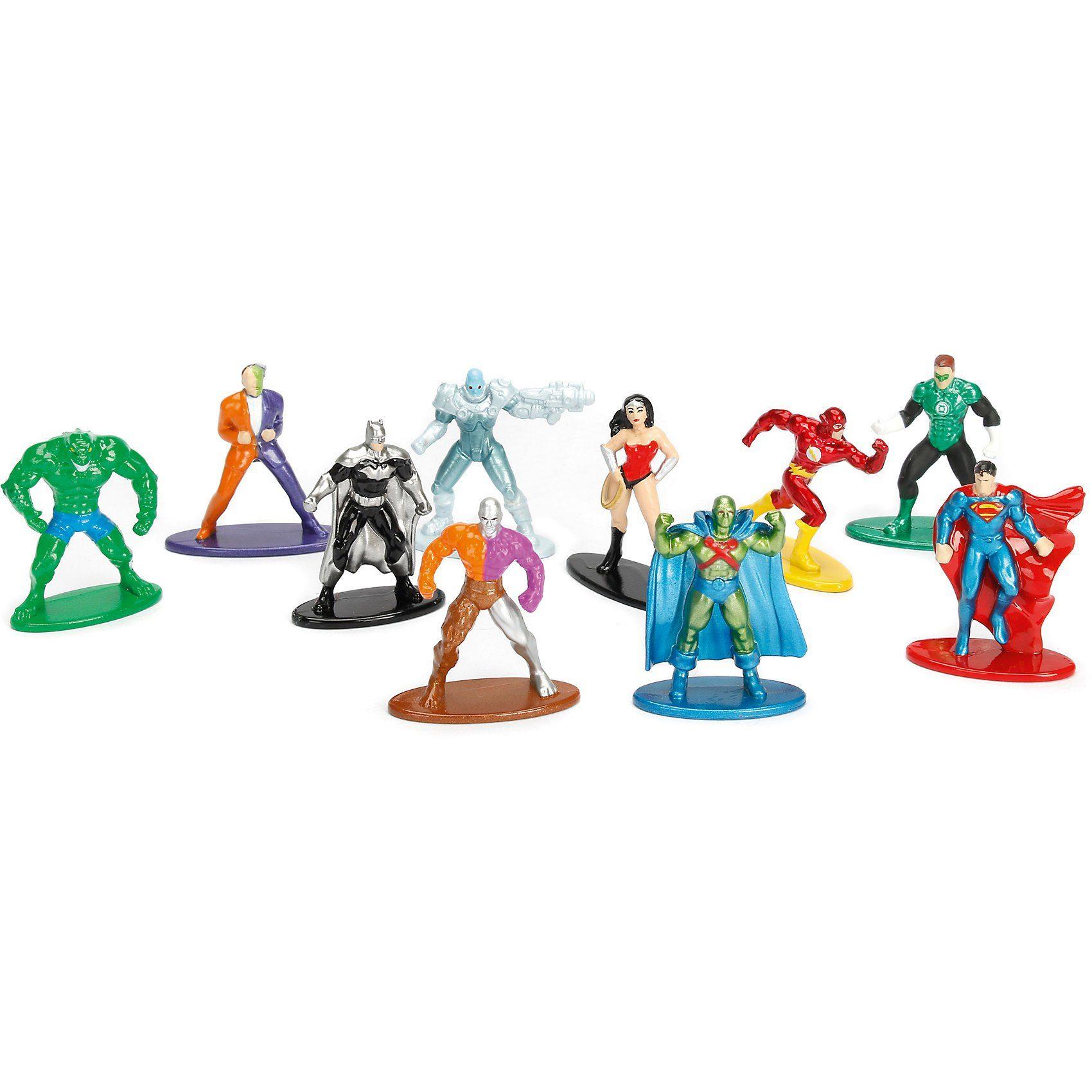Jazwares NANO METALFIGS DC Comics 10er Figurenpack