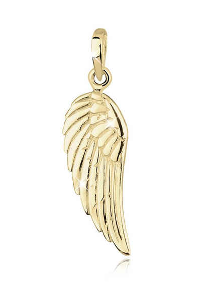 Elli Kettenanhänger »Flügel Engel 375 Gelbgold«