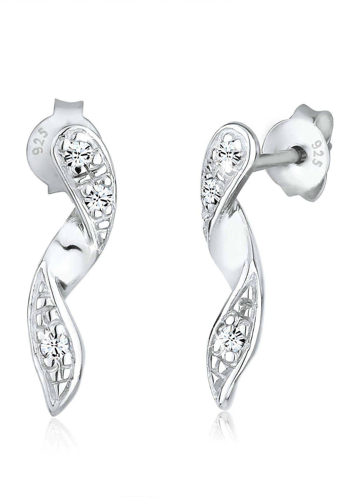 Online Swarovski® Ohrstecker Geo Kaufen »spirale Kristalle Paar Glamour Elli Silber« Yv7gf6Iby