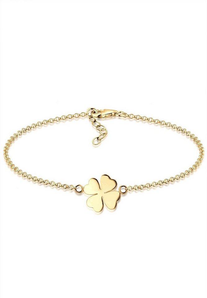 GOLDHIMMEL Armband »Kleeblatt Glücksbringer 925 Sterling Silber ... 8454b8ba6b