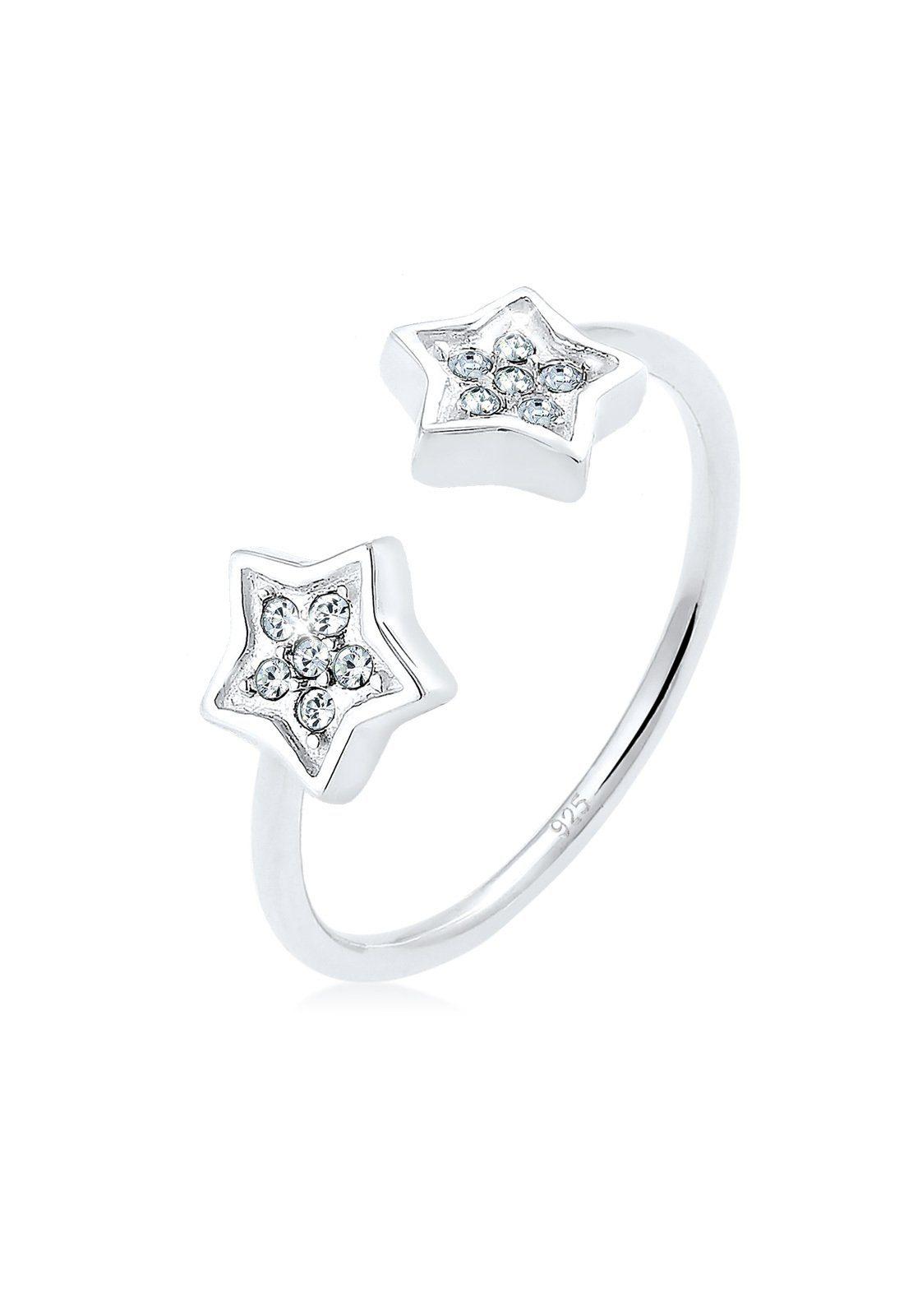 Elli Fingerring »Sterne Swarovski® Kristalle 925 Sterling Silber«