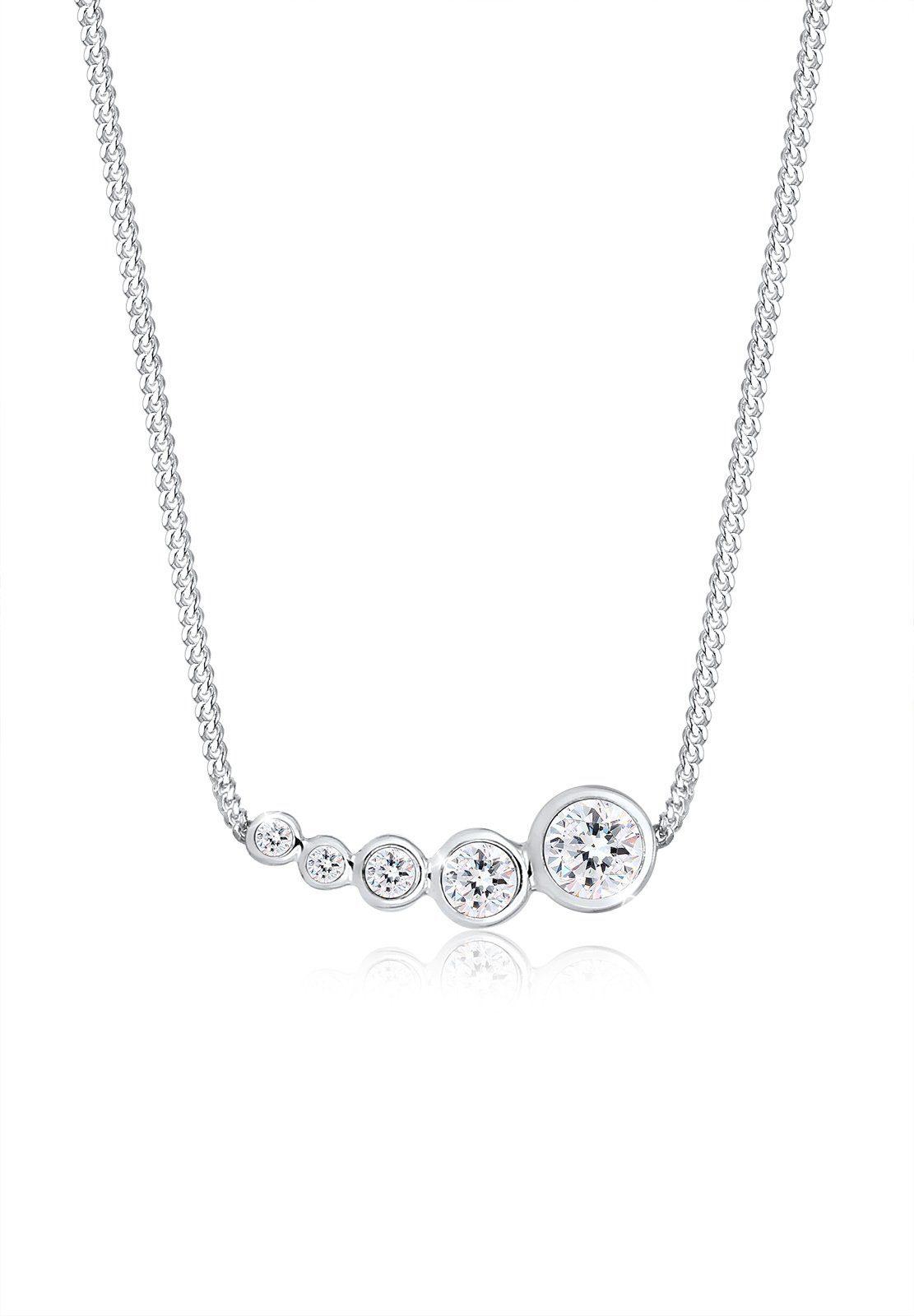 Elli Collierkettchen »Geo Kreis Trend Swarovski® Kristalle 925 Silber«