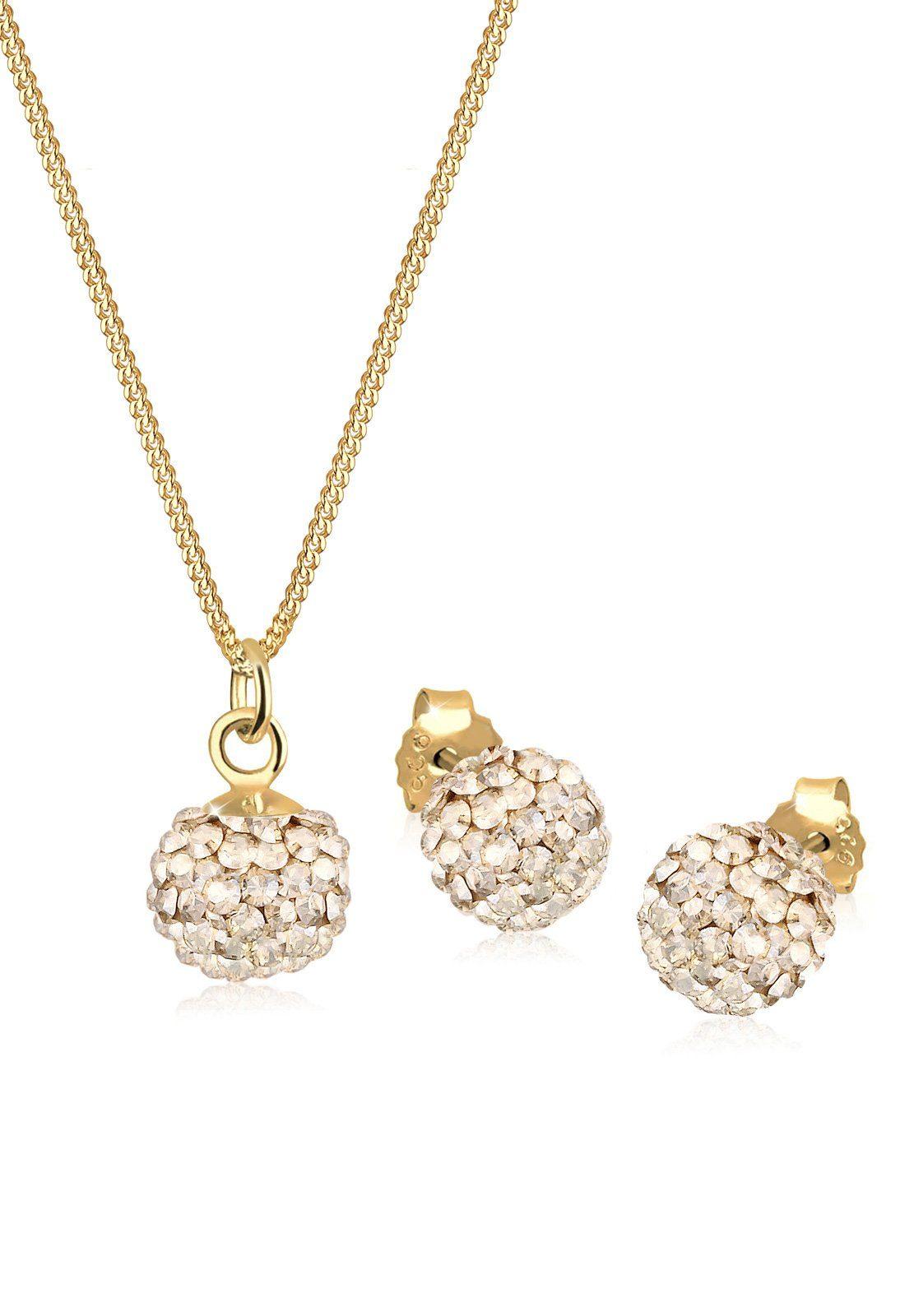 Elli Schmuckset »Set: Swarovski® Kristalle 925 Sterling Silber« (Set, 2 tlg)