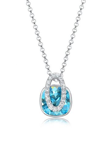 Elli Collierkettchen »Geo Viereck Swarovski® Kristalle 925 Silber«