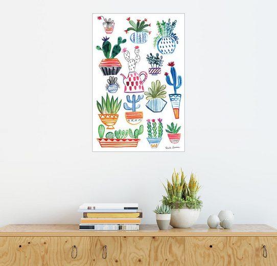 Posterlounge Wandbild - Farida Zamann »Funky Kaktus Collage I«