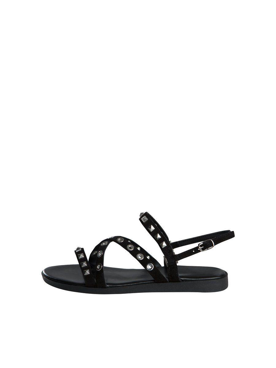 Pieces Nieten Wildleder Sandalen online kaufen  Black