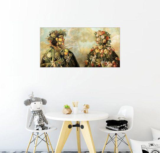 Posterlounge Wandbild - Giuseppe Arcimboldo »Anthropomorphosisches Profil eines Mannes und...«