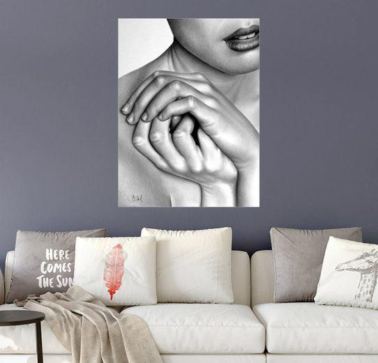 Posterlounge Wandbild - Ileana Hunter »Handstudie«
