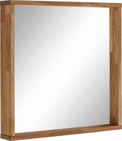 OTTO products Wandspiegel »Onnika«, Rahmen aus FSC-zertifiziertem Massivholz Eiche, Breite 60 cm, vegan, mit pflanzlichem Bio Öl behandelt