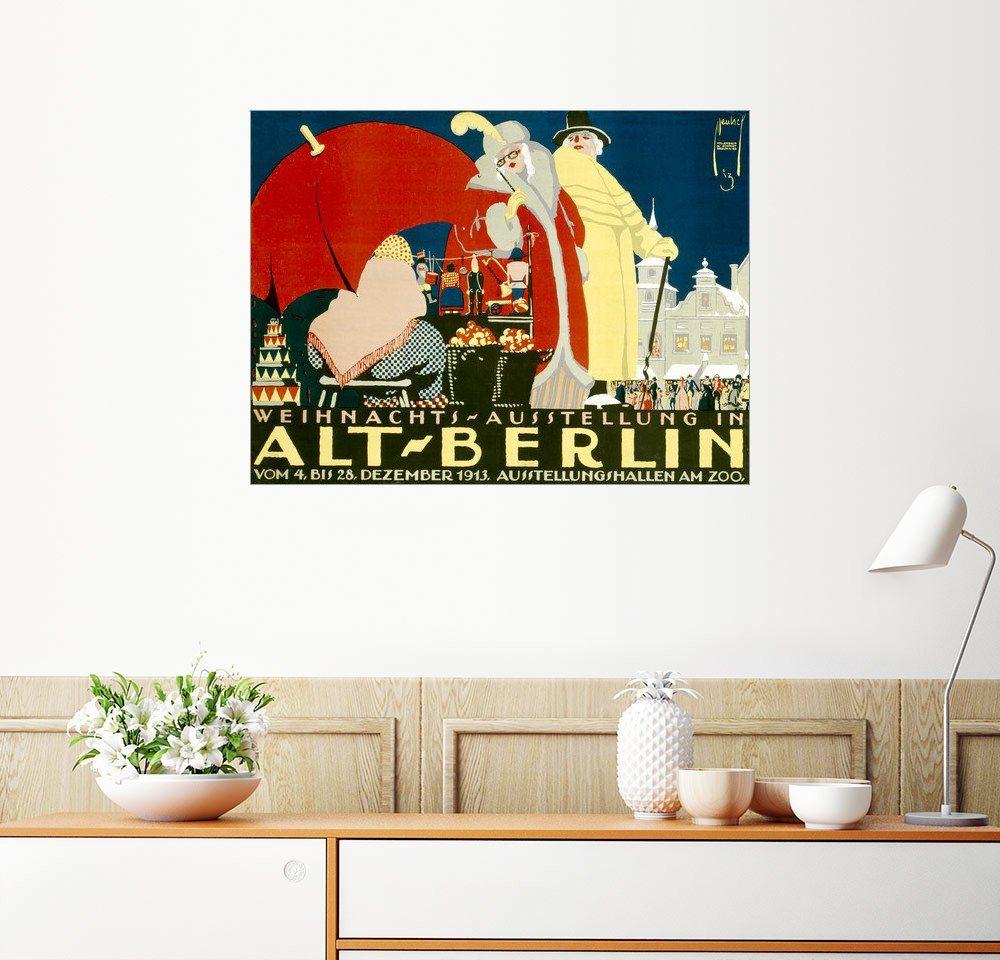 Posterlounge Wandbild   Ernst Deutsch Dryden »Alt Berlin  Weihnachtsausstellung«