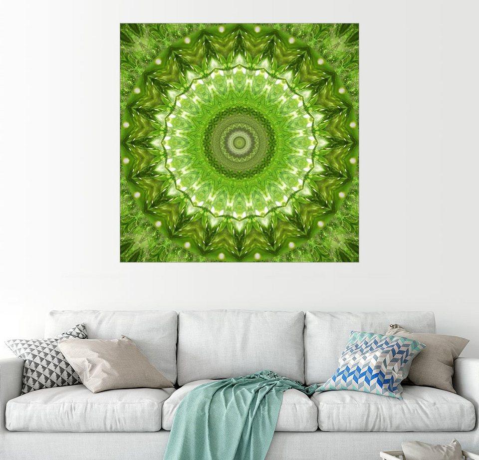 Posterlounge Wandbild - Christine Bässler »Mandala grüne Wiese ...
