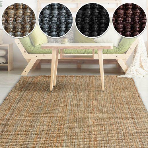 Teppich »Jute Matici«, Kubus, rechteckig, Handgewebt