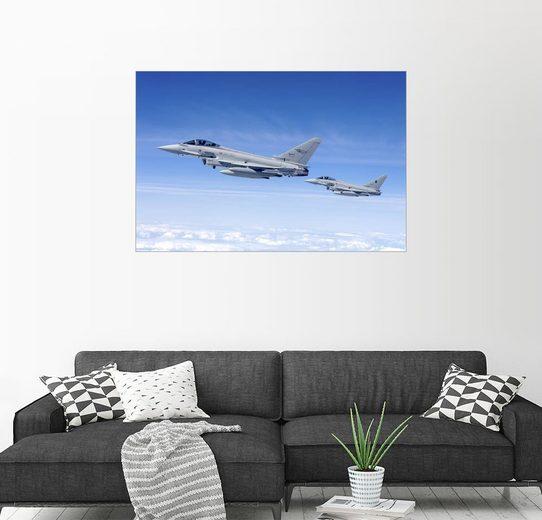Posterlounge Wandbild - Timm Ziegenthaler »Eurofighter der italienischen Luftwaffe«
