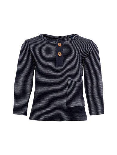 TOM TAILOR T-Shirt »gestreiftes Langarmshirt mit Tasche«