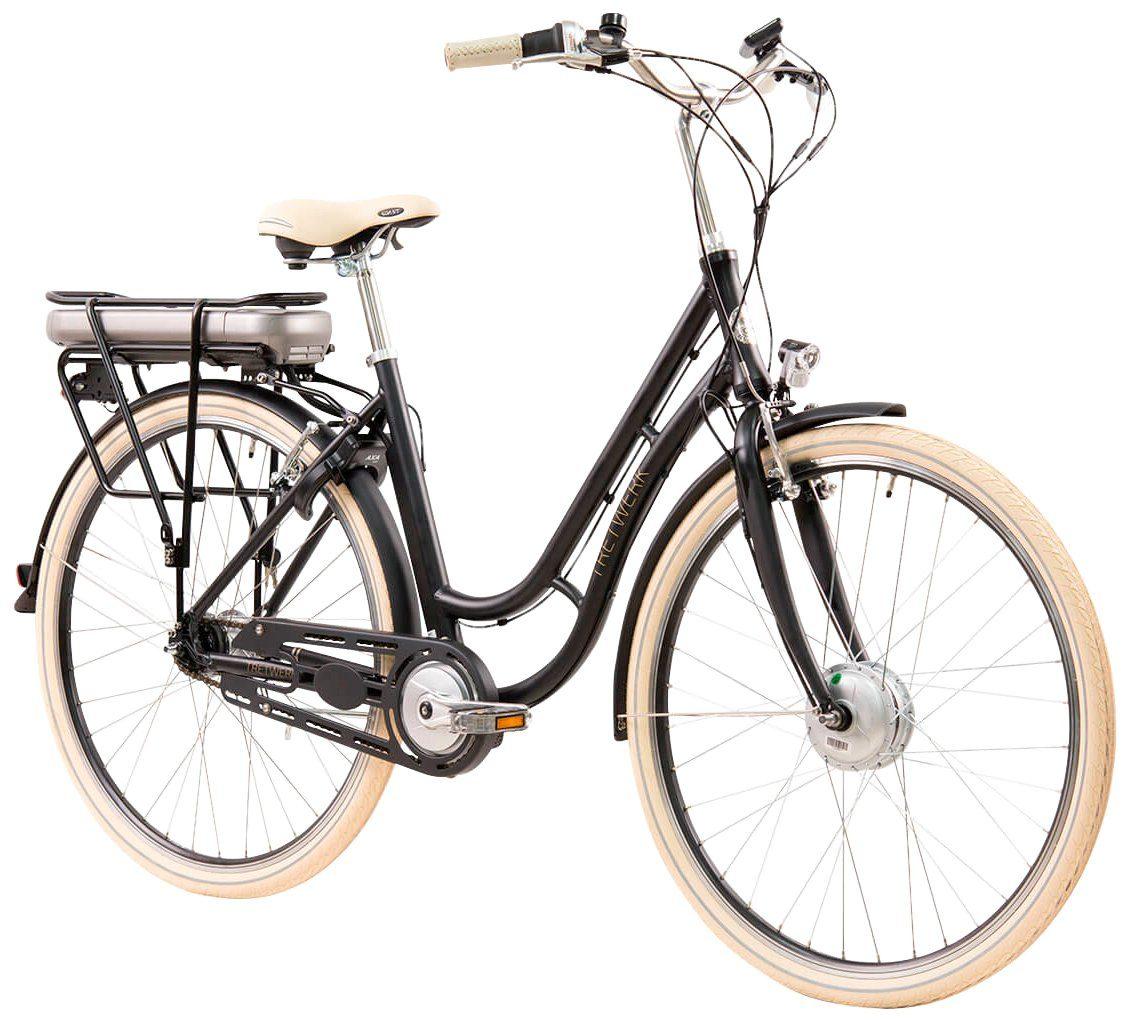 TRETWERK E-Bike City Damen »Traveler«, 28 Zoll, 7 Gang, Frontmotor, 418 Wh