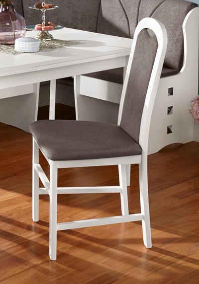 my home Esszimmerstuhl »Paris« (Set, 2 Stück), mit schönem Webstoff Bezug und Holzgestell, Sitzhöhe 47,5 cm