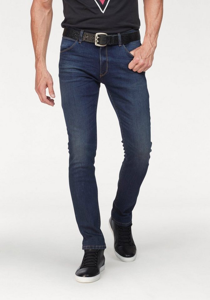 Herren Wrangler Slim-fit-Jeans Larston blau | 05400806251463