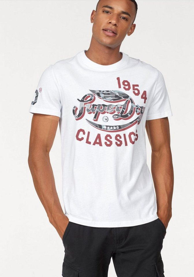 Superdry T-Shirt »FAMOUS FLYERS CAMO TEE« kaufen  a94f60821