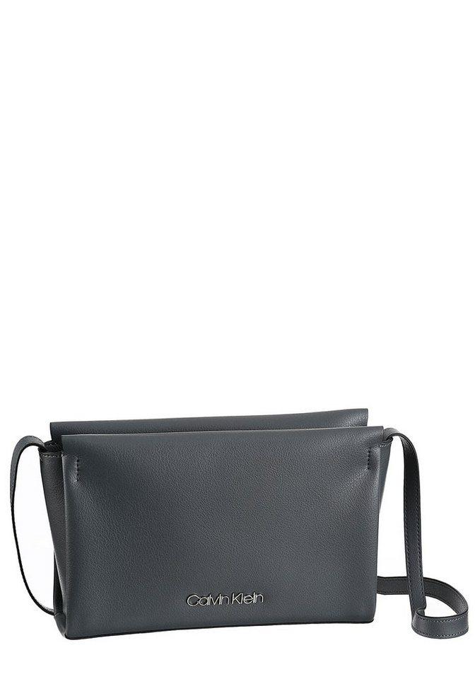 Damen Calvin Klein Umhängetasche FRAME  mit schlichten Design mit Metall Logo grau   08719115061593
