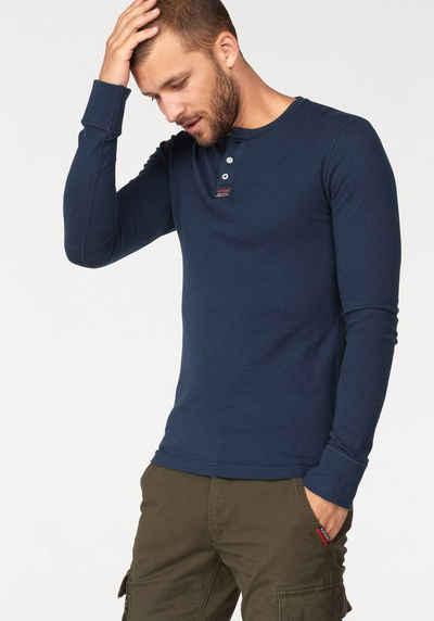 569667033547 Langarmshirt mit Knopfleiste für Herren online kaufen   OTTO