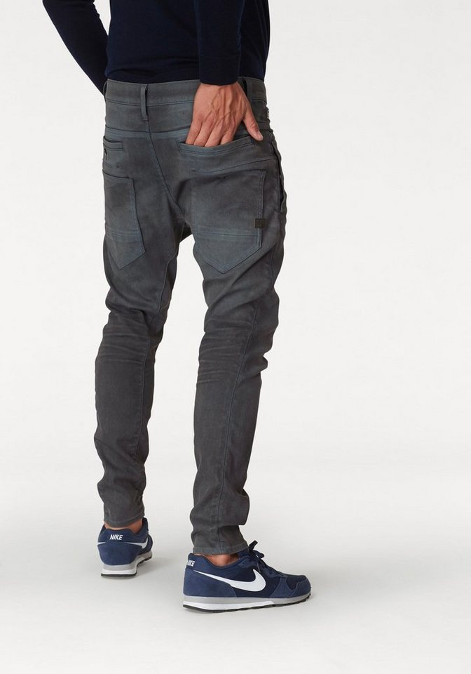 g star raw skinny fit jeans d staq 3d skinny zus tzliche taschen auf dem oberschenkeln und. Black Bedroom Furniture Sets. Home Design Ideas