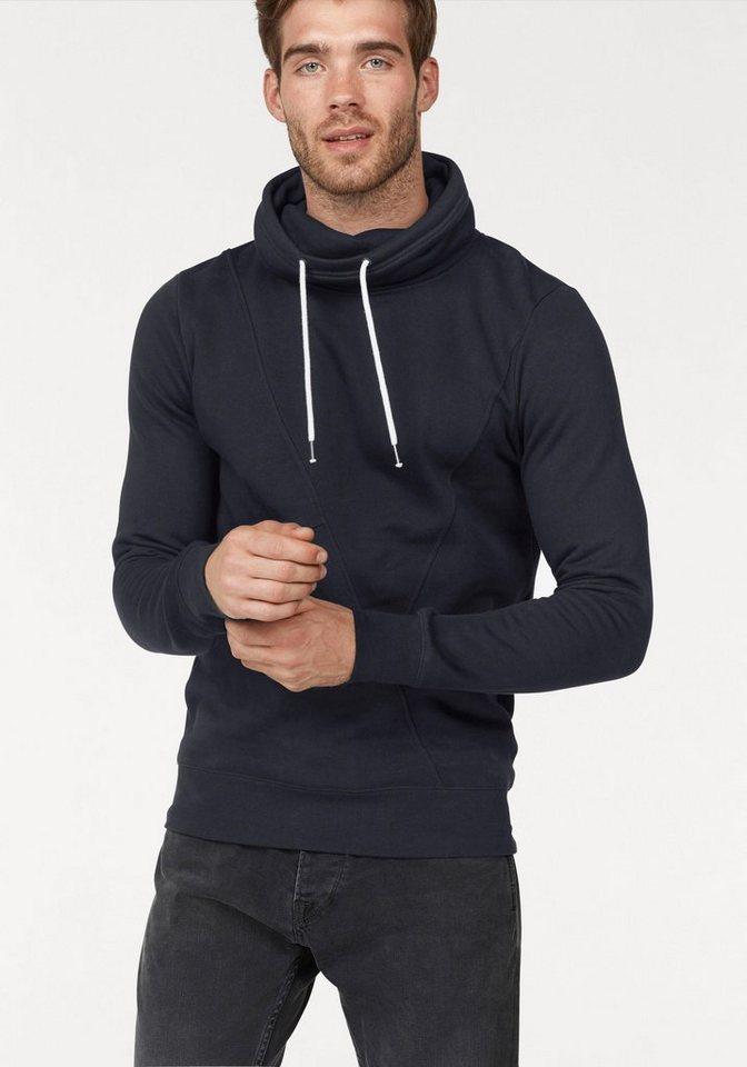 Herren TOM TAILOR Denim  Sweatshirt mit Ziernähten blau | 04062105793627
