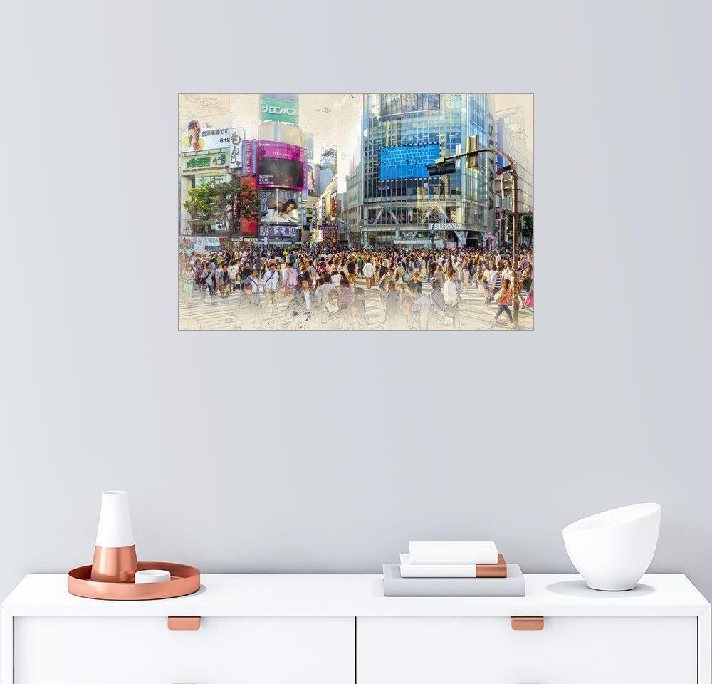 Posterlounge Wandbild - Peter Roder »Tokio, Shibuya Stadtbezirk«