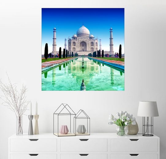 Posterlounge Wandbild »Taj Mahal Türkis«
