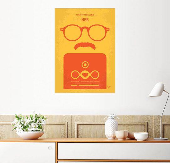Posterlounge Wandbild - chungkong »No372 My HER minimal movie poster«