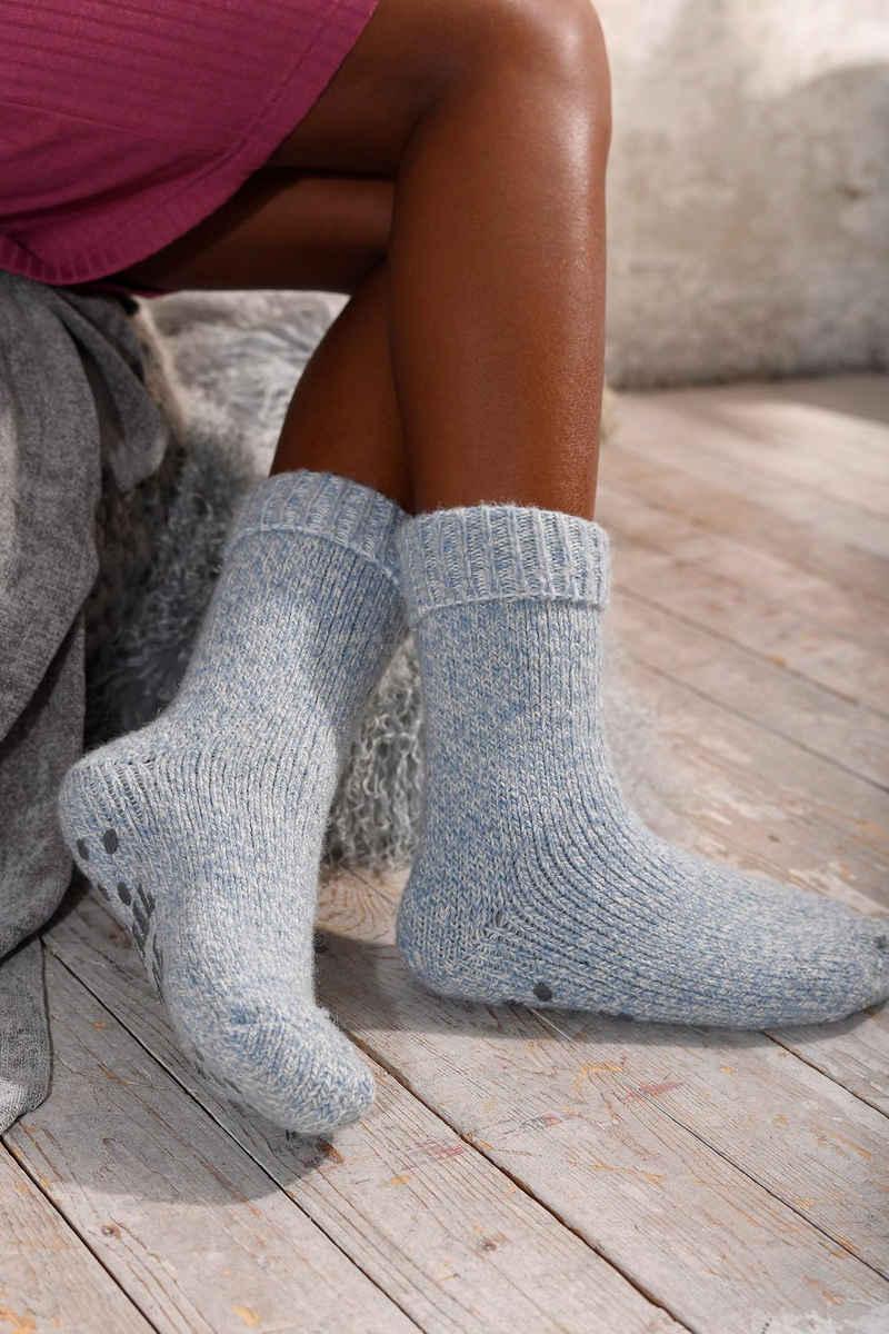 Sympatico ABS-Socken (1-Paar) aus Strick mit rutschfester Sohle