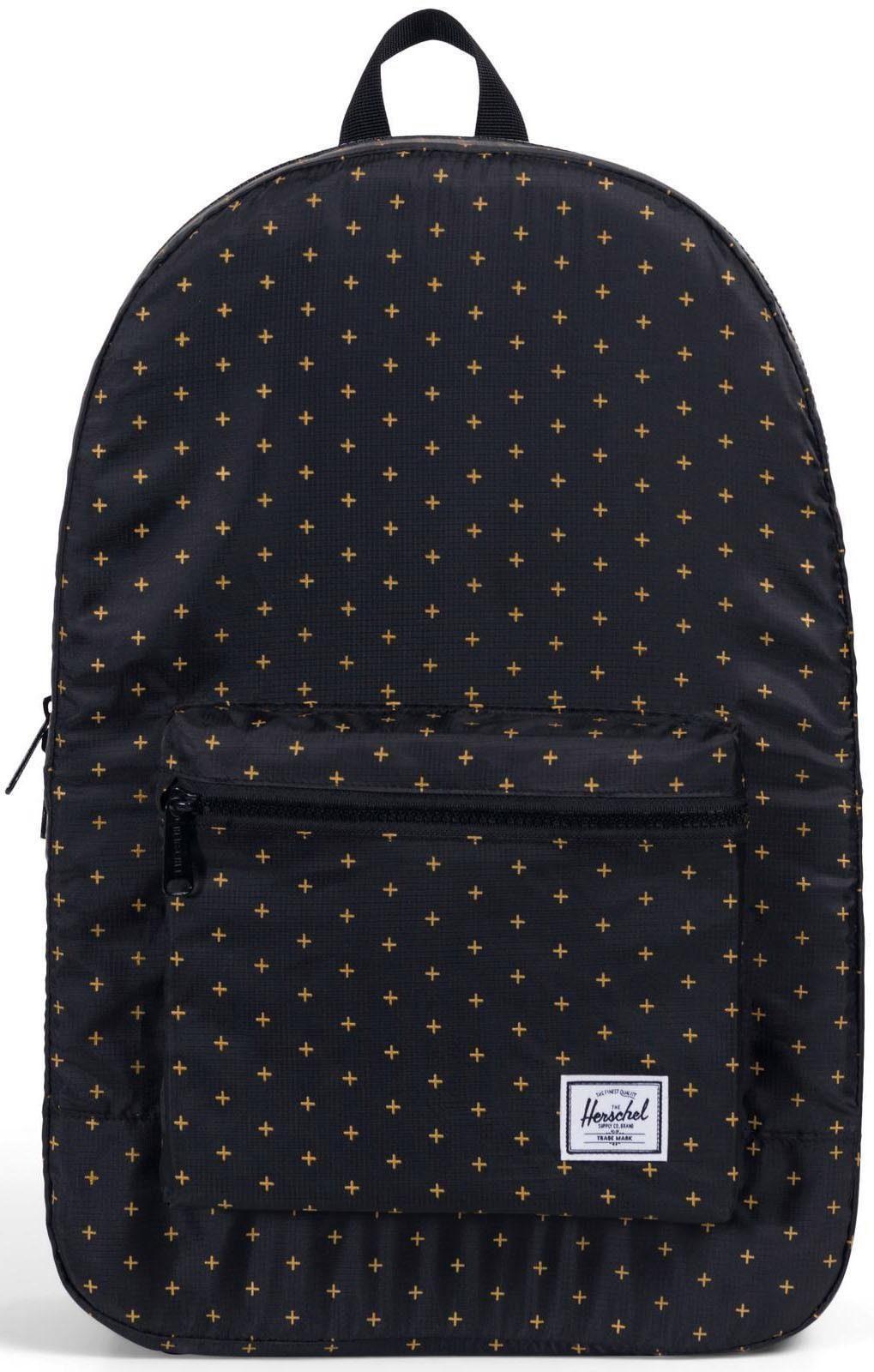 Herschel Rucksack, »Daypack Packable, Black Gridlock Gold«
